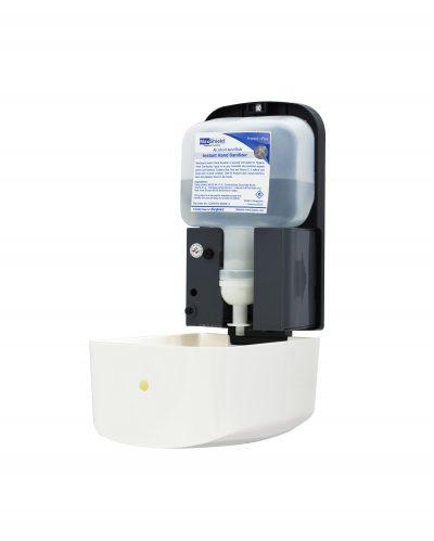MAF350C Auto Hand Sanitizer Dispenser open with cartridge