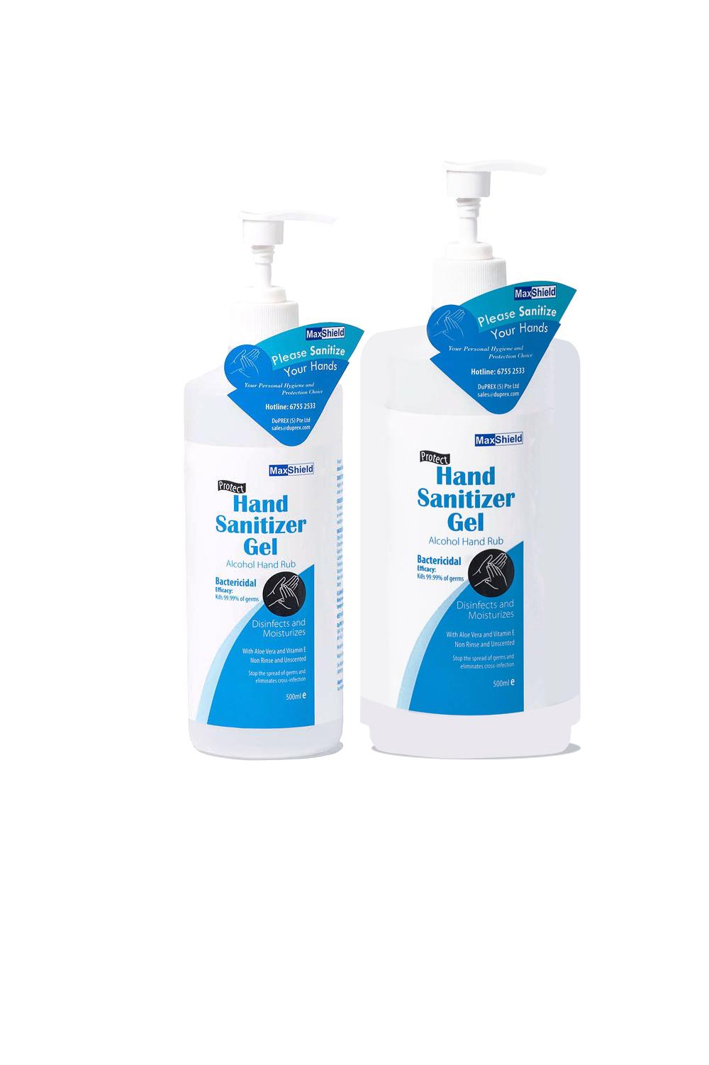MaxShield - Hand Sanitizer Gel Alcohol Hand Rub - Duprex Singapore